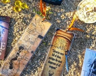 Throne of glass bookmark - Handmade