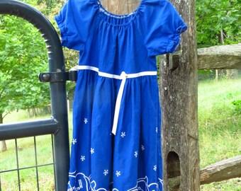 Cute Girl's Peasant Dress Size 4