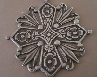 Beautiful Coppini Maltese Cross ~ Vintage 800 Sterling Silver ~
