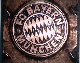 Bayern Munchen Stunning Wall Copper Handmade Decoration Football Team