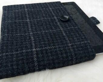 Irish tweed 9 inch + tablet cover - ipad - sleeve - 100 % wool - HANDMADE IN IRELAND - ready for shipping