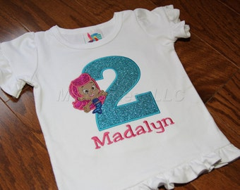 Guppie Applique Birthday Shirt