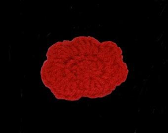 crochet flower , application , orange