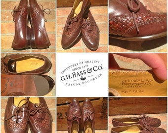 Vintage G.H. Bass & Co Brown Leather Shoes