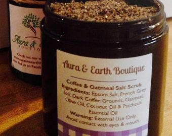 Coffee Oatmeal Salt Scrub #coffee #oatmeal #salt