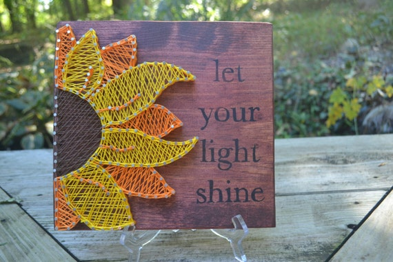 Let Your Light Shine Sunflower String Art By