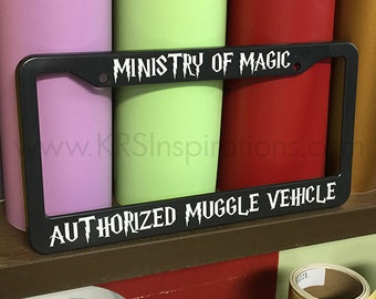 Ministry of Magic Muggle License Plate Holder
