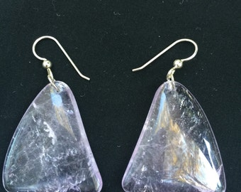 Amethyst Earrings, Hand Crafted