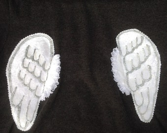 OOAK adult's angel wings hoodie
