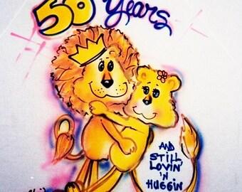 Anniversary gift, 50th anniversary t shirt, personalized tshirts, lovers shirt, anniversary gift, wedding gift