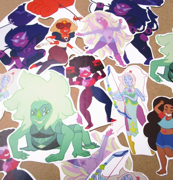 Steven Universe Fusion Stickers From Saliferousart On Etsy