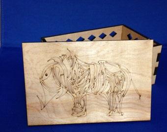 Peace Keepsake Box - Laser Cut Wooden Box - Manufactured in Pittsburgh, PA