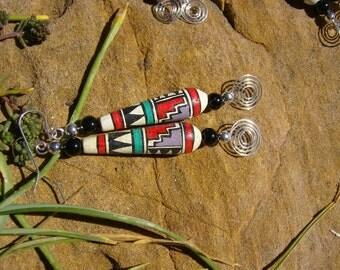 Peruvian Ceramic Bead Earrings