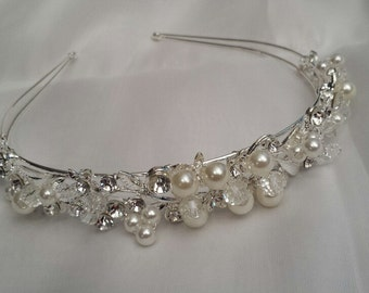 Bridal Headband, Pearl-Rhinestone Headband