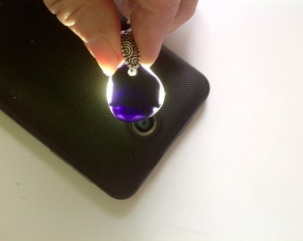 Purple and White Seaglass Pendant from Seaham England