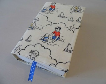 At The Seaside Handmade Fabric Book Cover