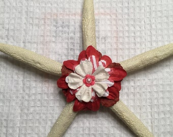Starfish with paper flowers and small embellishment