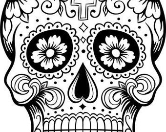 Sugar Skull SVG file