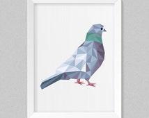 Dove printable, bird printable, art prints