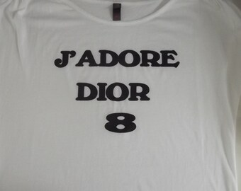 J' Adore Dior T-shirt Cool  All sizes  100% cotton