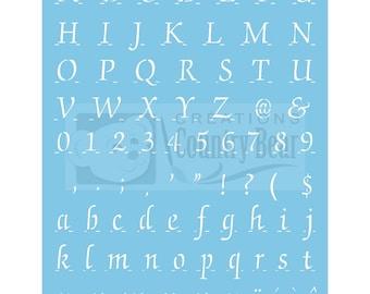 """Stencil - Complete Alphabet 5/8"""" high - ST-153"""