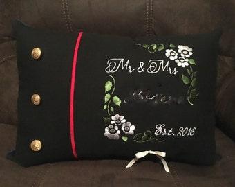 USMC Dress Blues Ring Pillow