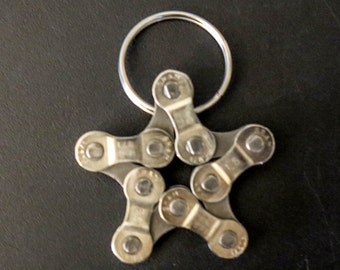 Bicycle Chain Star Keychain