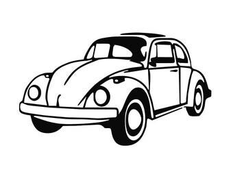 """Bumper sticker """"VW Beetle"""""""