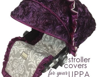 Uppa Baby Stroller Liners, Custom Stroller Liners, Designer Stroller Designs, Canopy and Liner Fully Customized for Uppa Baby Cruz