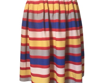 1950's Vintage Horizontal Striped Skirt