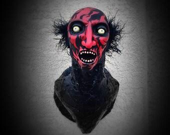 The Lipstick Face Demon - ooak handmade faux taxidermy horror headmount