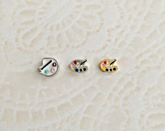 Art pallet floating charms for memory lockets