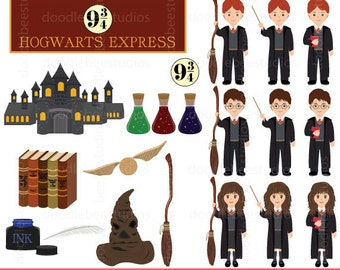 School of Wizardry Clipart, Harry Potter Clipart, Hogwarts Clipart, Wizard Clipart, Magic Clipart, Harry Potter Clip Art, Quidditch
