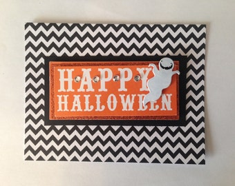 Happy Halloween Ghost Cards- Handmade