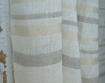 Ivory Airy linen curtain panels linen curtains linen drapes