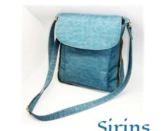 Polyester Nylon Messenger Bag - Shoulder bag, Tote, Hip bag, Travel bag, cross body, everyday bag, purse, Sirins... SALE