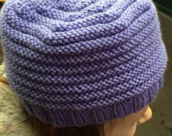 Slouchy Purple Hat