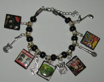 The Fab Four- The beatles- Charm Bracelet-Hand Made