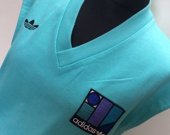 1980s ADIDAS Made in West Germany IVAN LENDL Vintage Tennis Sweater