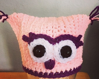 Baby Owl Beanie - It's a Hoot!