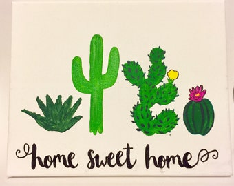 Home sweet home sorority canvas