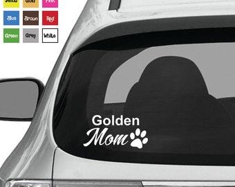 Golden Retriever Mom Decal