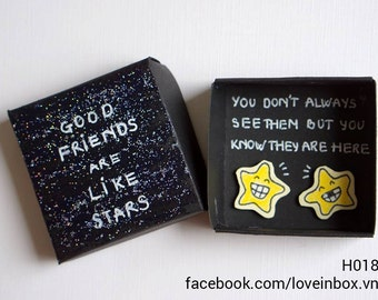 Good Friends Are Like Stars/Handmade Box