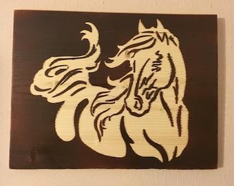 Wild Horse Wood Sign