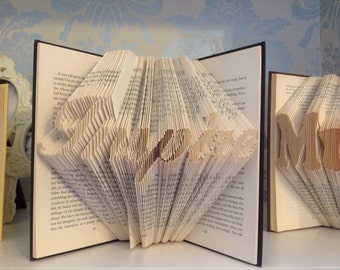 Inspire folded book art