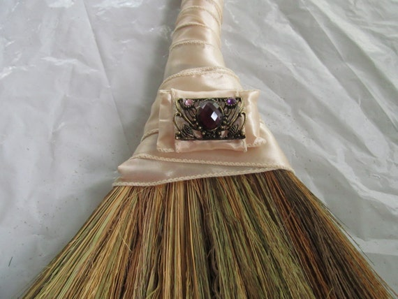 sale decorated wedding jump broom with bling jumping broom