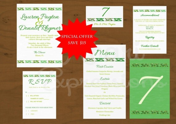 African Amp Adinkra Printable Wedding Invitation Printable Wedding Table Kit Wedding Table