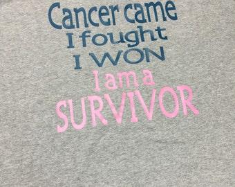 Cancer came  i fought  i won  i am a survivor