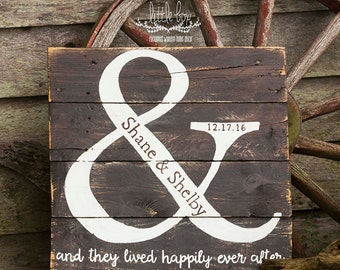 Ampersand with First Names and Wedding Date