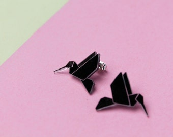 Chips hummingbirds Origami / Earrings Origami Hummingbirds